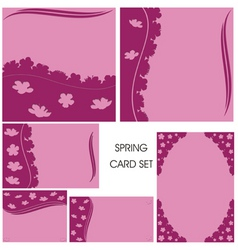 Card cutout pink vector