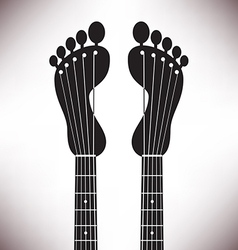 Footprint headstocks vector