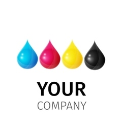 Template cmyk logo vector
