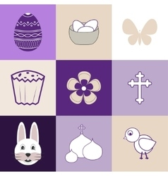 Set of images on the theme of easter vector