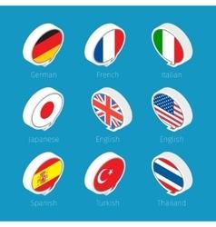 Speech bubbles Languages vector image