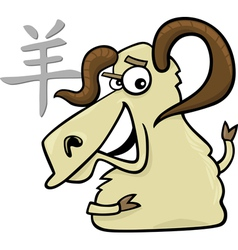 Goat or ram chinese horoscope sign vector