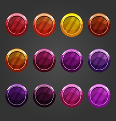 Set shiny bubbles vector