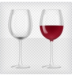 Two wine glasses vector