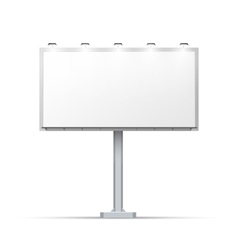 White outdoor billboard with place for advertising vector image