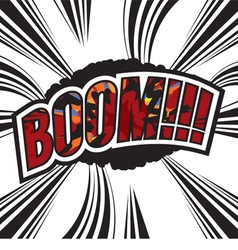 Boom comic sound effect vector