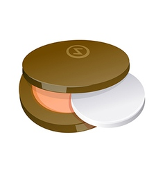 A powder compact is placed vector