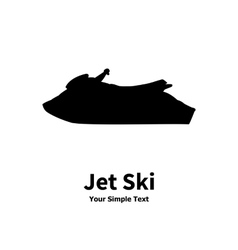 a water jet ski vector image