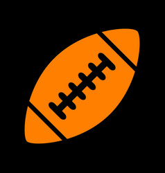 american simple football ball orange icon on vector image