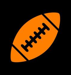 American simple football ball orange icon on vector