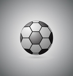 Ball float on gray background vector image vector image