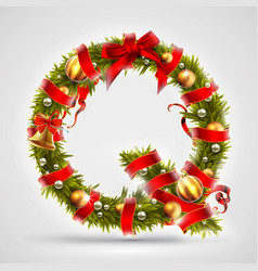 christmas font letter q of christmas tree vector image vector image