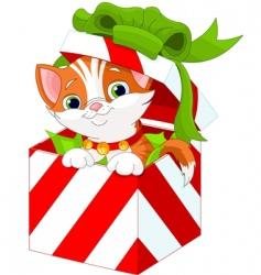 Christmas gift box vector image vector image