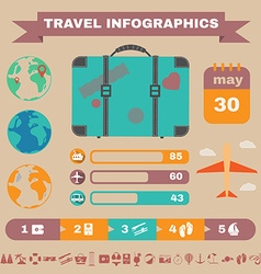 Colorful travel infographic banner vector