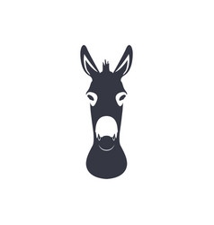 dark blue silhouette head of a donkey vector image vector image