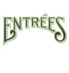 entrees vector image