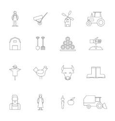 Farm icon outline vector