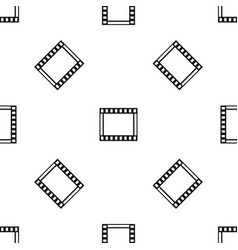 film with frames movie pattern seamless black vector image vector image