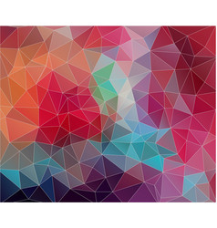 flat triangle background with vintage color vector image vector image