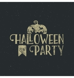 Halloween 2016 party label template with pumpkin vector