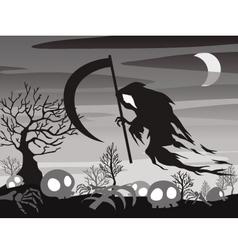 Halloween angel of death vector