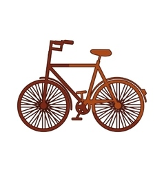 Hipster style bicycle icon vector
