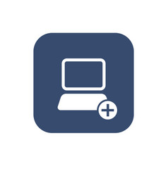 icon add computer vector image