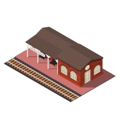 Isometric railway station vector