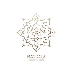 logo mandala vector image vector image