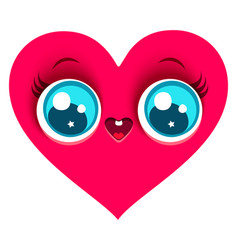 pink cute heart vector image vector image