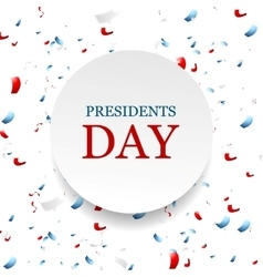 Presidents Day abstract USA colors confetti vector image vector image