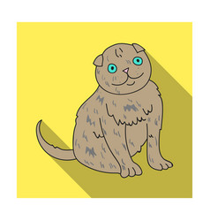 Scottish fold icon in flat style isolated on white vector