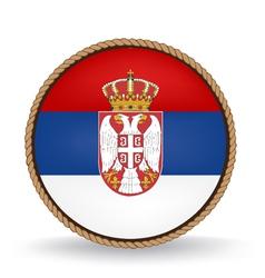 Serbia seal vector