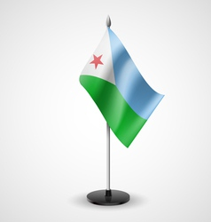 Table flag of djibouti vector
