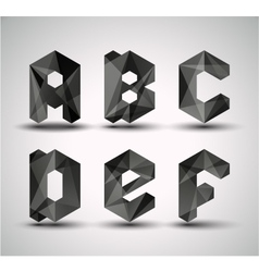 trendy black alphabet vector image
