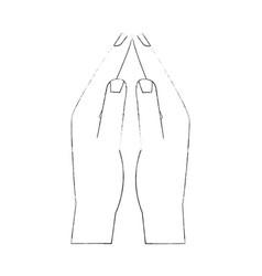 women hands together vector image