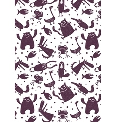 Pattern with animals vector