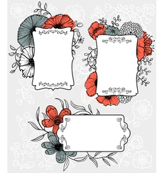 Flowers labels vector