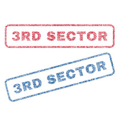 3rd sector textile stamps vector