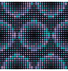 Halftone circle tiles cold colors seamless pattern vector