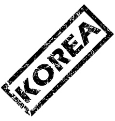 Korea rubber stamp vector