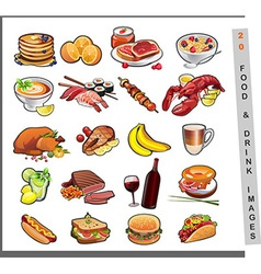 20 food images vector