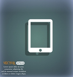 Tablet sign icon smartphone button on the vector