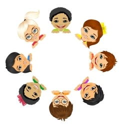 Multi ethnic group of children vector