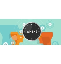 When timing question mark business concept vector