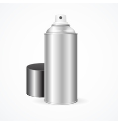 Aluminium spray can template blank vector