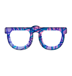 Abstract polygonal sunglasses abstract vector