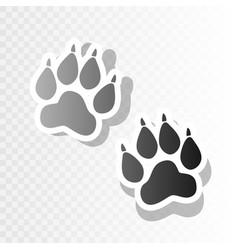 Animal tracks sign new year blackish icon vector
