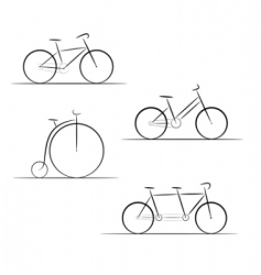 bicycle logos vector image