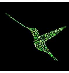 bird shape vector image vector image
